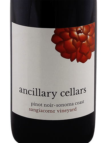 2016 Ancillary Cellars Sangiacomo Vineyards Pinot Noir