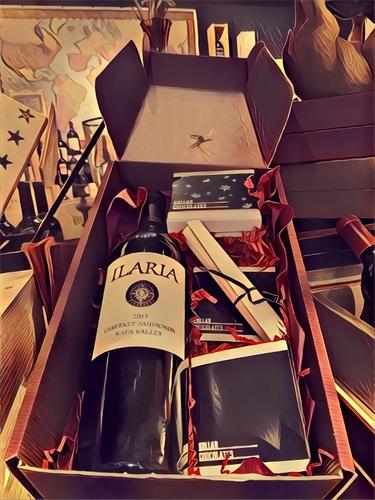 Holiday Gift Box ( Wine & Gourmet Chocolate )