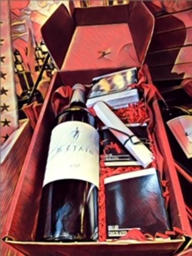 Holiday Wine Box 2 ~ With Scarecrow Tin Man
