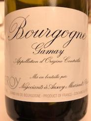 2019 Leroy Bourgogne Gamay