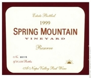 1999 Spring Mountain Reserve