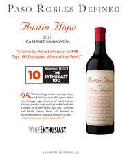 2017 Austin Hope Cabernet Sauvignon ( $650 For Case Of 12 Bottles )