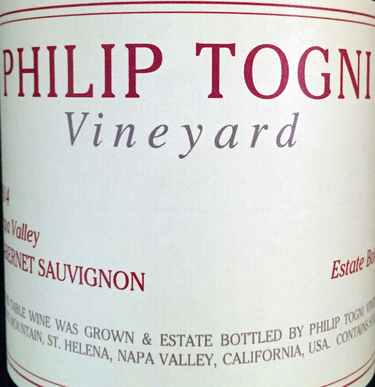2014 Philip Togni Estate Cabernet Sauvignon, Napa Valley