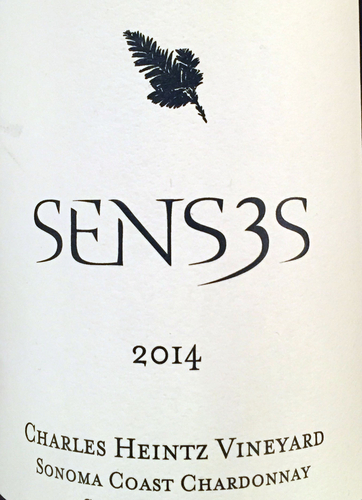 2014 Senses, Sonoma Coast, Charles Heintz Chardonnay