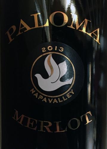 2013 Paloma, Napa Valley, Merlot