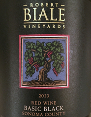 2013 Robert Biale, Basic Black Red Blend, Sonoma County