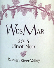2013 Wes Mar Pinot Noir Russian River